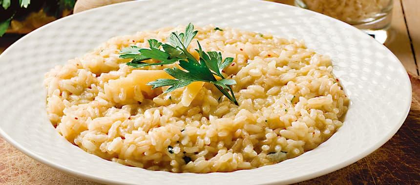 Arroz San Pedro estilo Risotto con queso parmesano y mantequilla