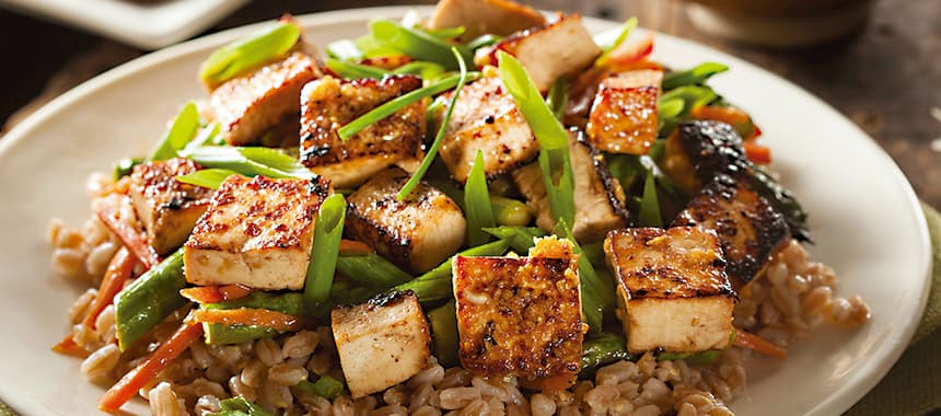 Ensalada de Arroz San Pedro con tofu