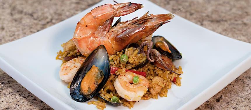 Paella con Arroz San Pedro